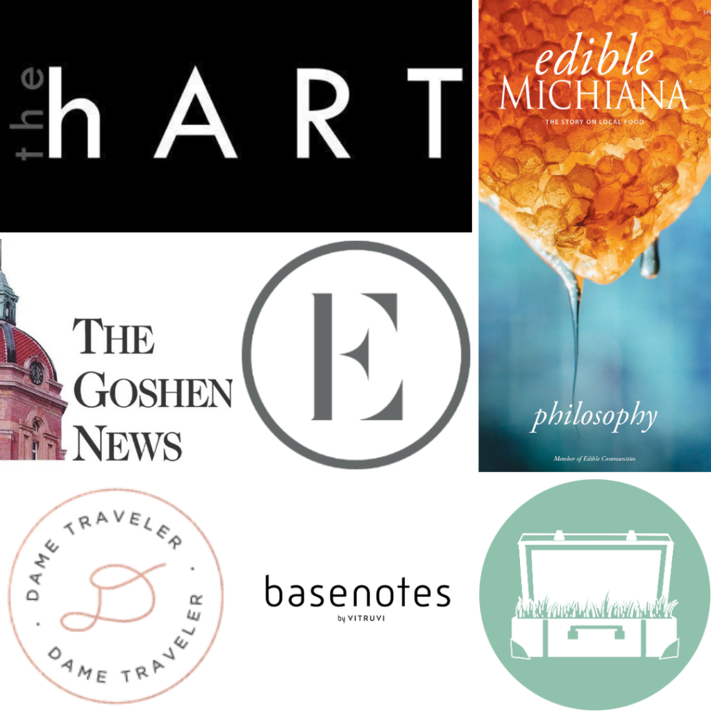 A grid of publications where you can find my health and travel journalism